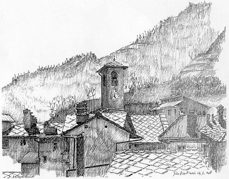 I disegni di marco rostan in mostra a torre pellice for Piccoli disegni di baite di montagna