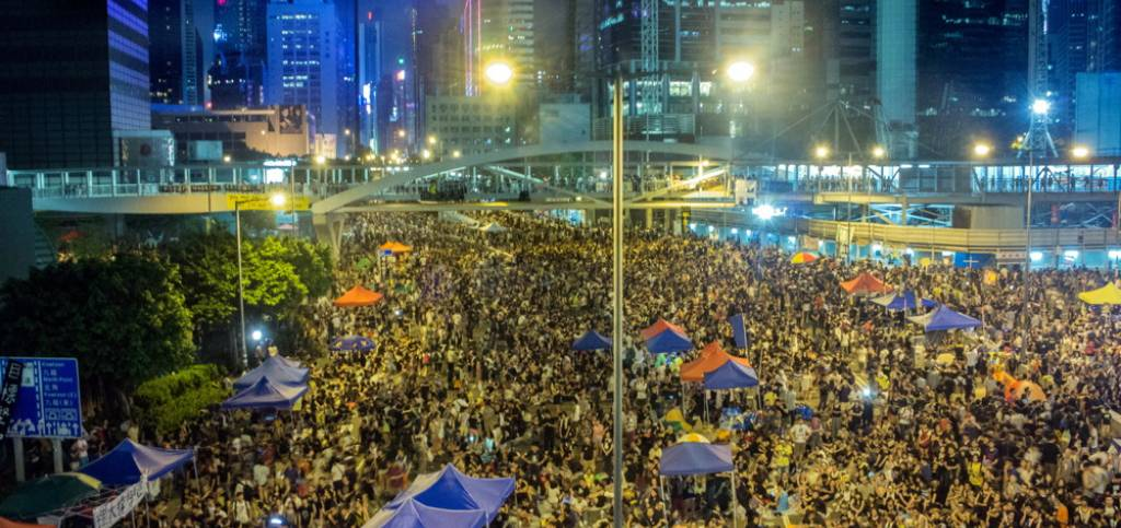 HK Occupy Central in Harcourt Eoad