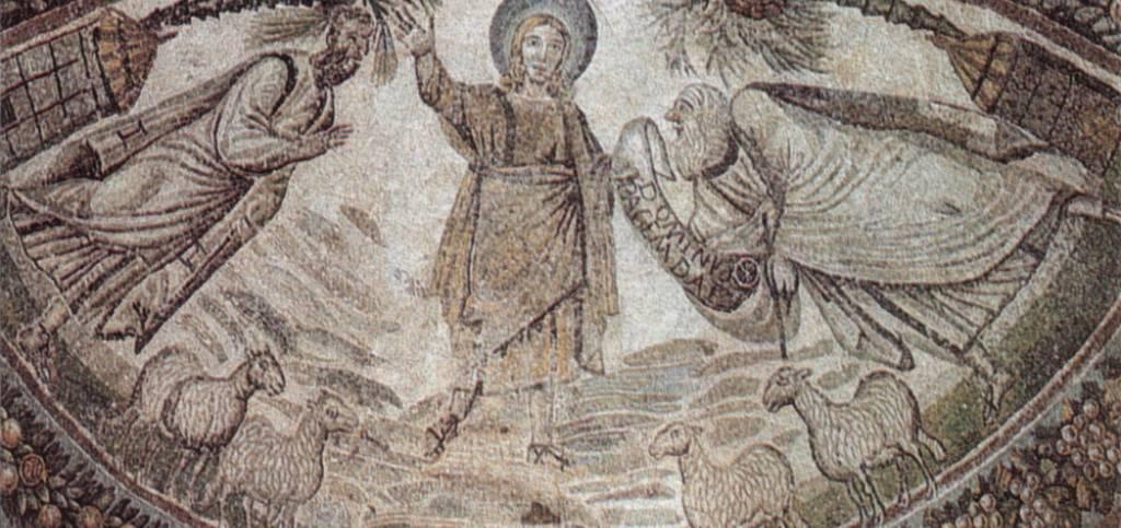 Consegna della legge, Santa Costanza Roma (mosaico IV secolo)