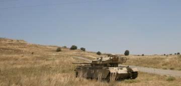 Un carro israeliano Centurion abbandonato sul Golan