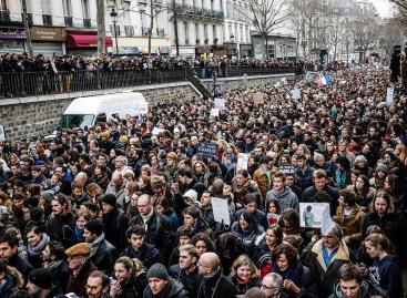 Il corteo dell'11 gennaio a Parigi