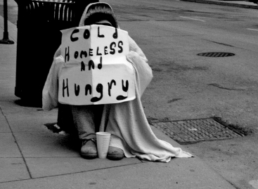 cold, homeless and hungry,