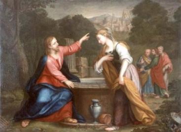 Giacomo Franceschini: Gesù e la Samaritana al pozzo