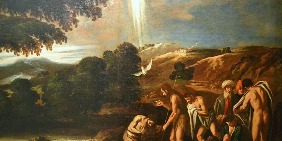 Il battesimo di Cristo, Pedro Orrente