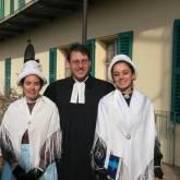 Angrogna - Elisa Rivoira, il pastore Marco Di Pasquale ed Ester Fraschia