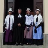Prarostino- Da sinistra: Federica Genre, pastore Donato Mazzarella, Chiara Ricca e Jenny Rostaing